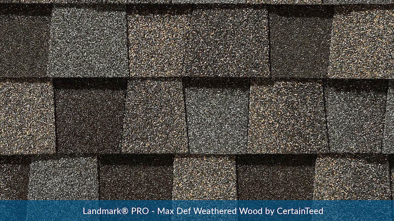 Landmark® PRO - MaxDef Weathered Wood
